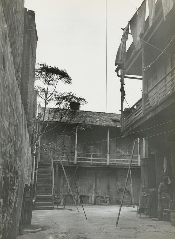 Rear view of 1014 Dumaine Street, thought to date to the late 1940s or 1950s.