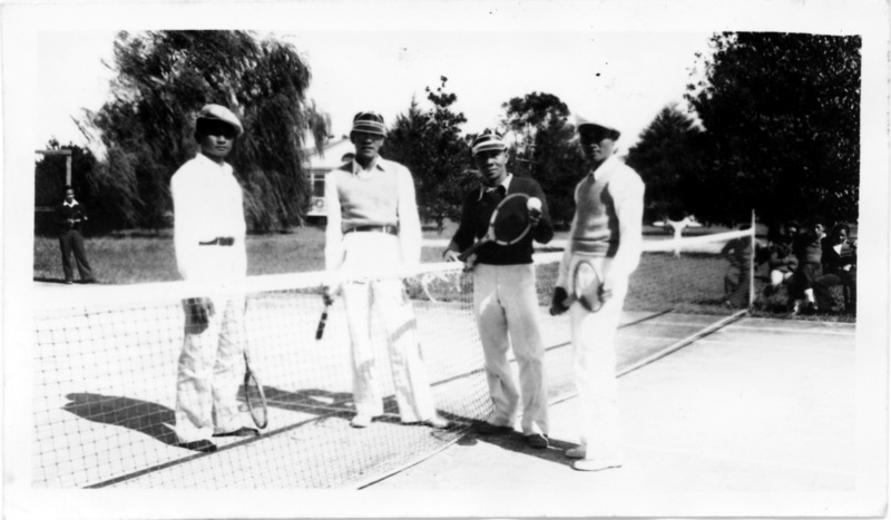 Patient Tennis Players at the National Leprosarium, Carville, Louisiana, 1930s.