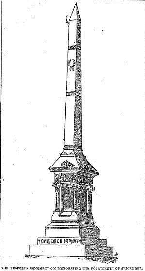 Proposed Monument, circa 1891