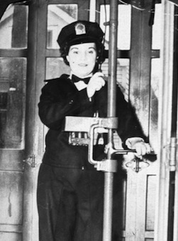 Mary Fischer, 1943, First Woman Transit Operator