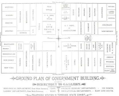 Floor Plan of the Government and States Building