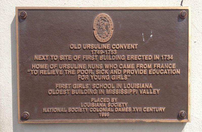 Ursuline Plaque