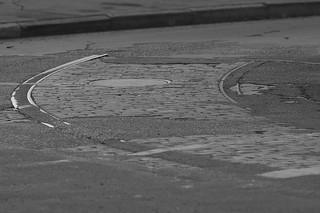 Dryades Streetcar Tracks re-emerge, 2007
