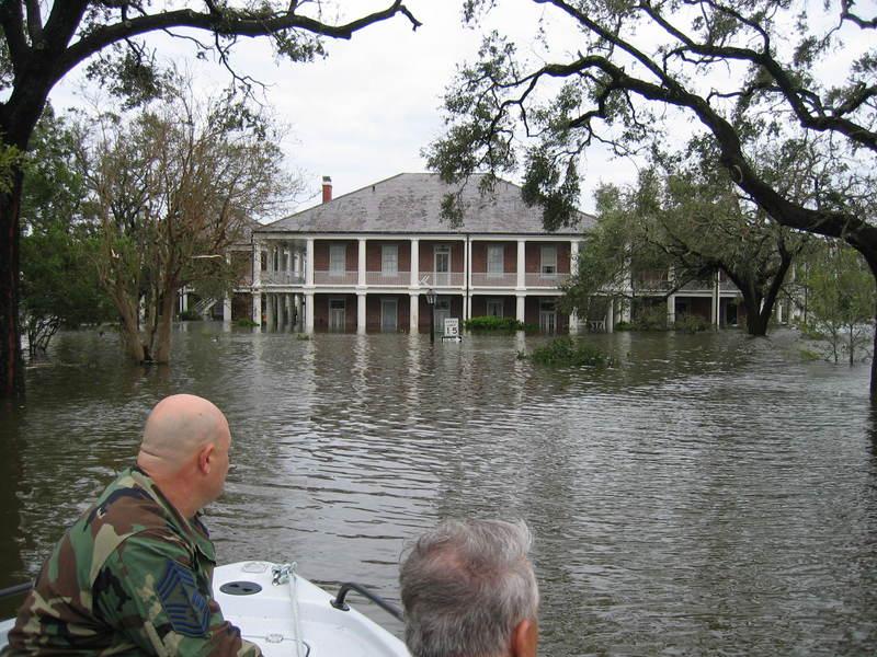 Historic Garrison Quadrangle, post-Katrina photo