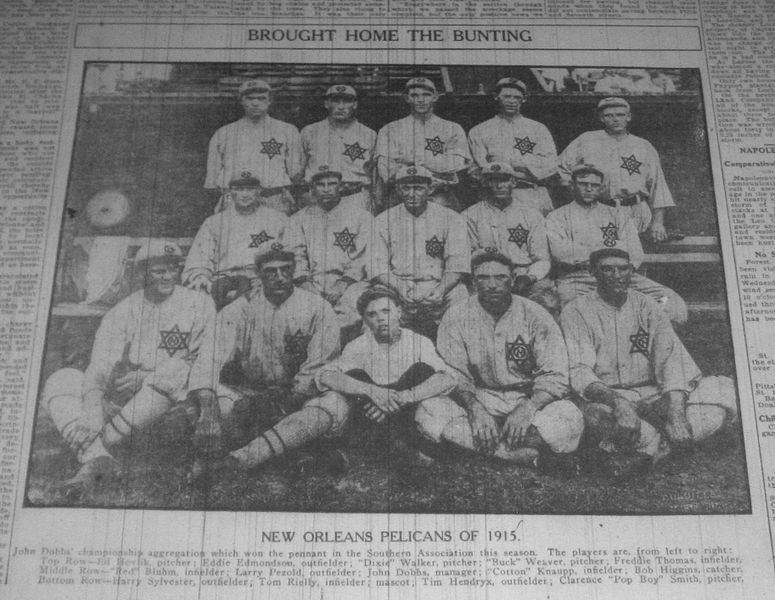 New Orleans Pelicans baseball team, 1915