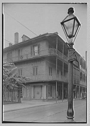 Gaslight, Corner of Pirate's Alley and Royal Street, circa 1920