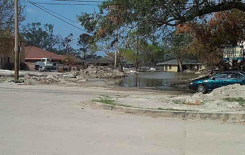Site of Louisiana Historic Plaque near London Avenue Canal Breach