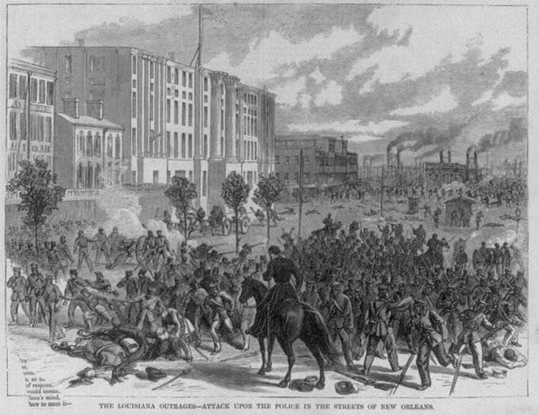 Battle of Liberty Place as depicted in Harper's Weekly