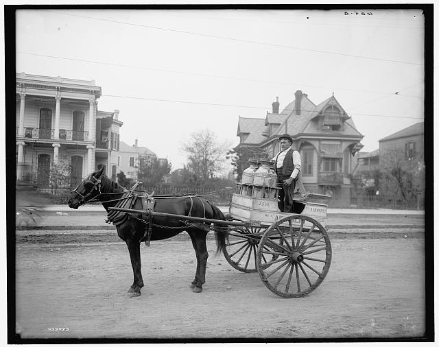 Milk Wagon, circa 1900-1910