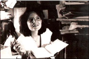 Nancy Lemman signing books.