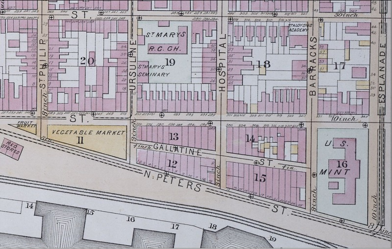 Map of Gallatin Street, 1883
