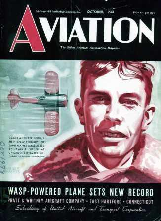 Jimmie Wedell on the Cover of Aviation Magazine