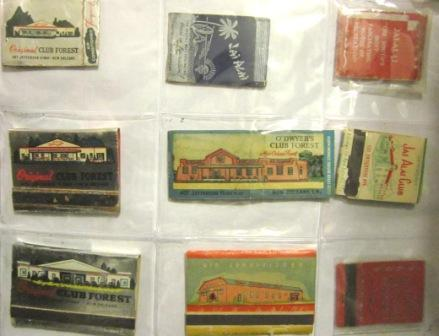 Matchbooks from Various Historic Gaming Clubs