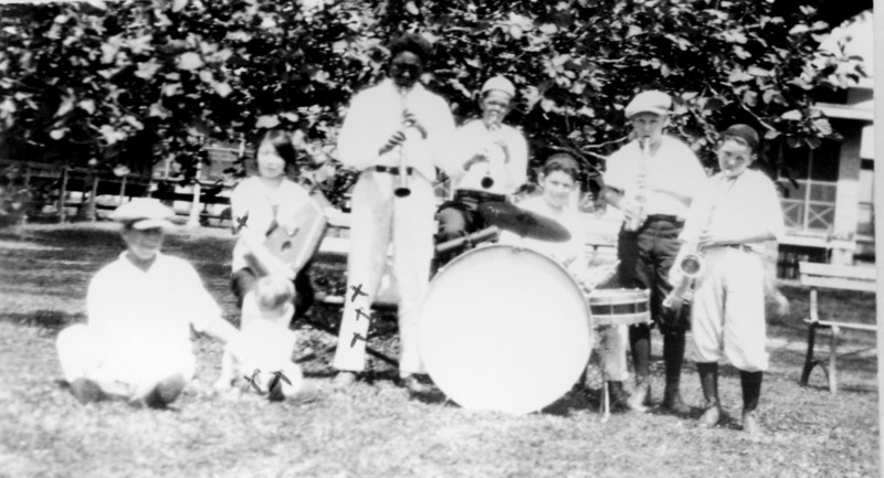 Young patients playing in a band, 1930s. National Leprosarium, Carville, Louisiana.