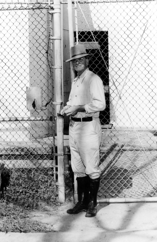 Steve Lator, who worked as a guard at the National Leprosarium for decades, poses in front of the jail.&lt;br /&gt;<br />