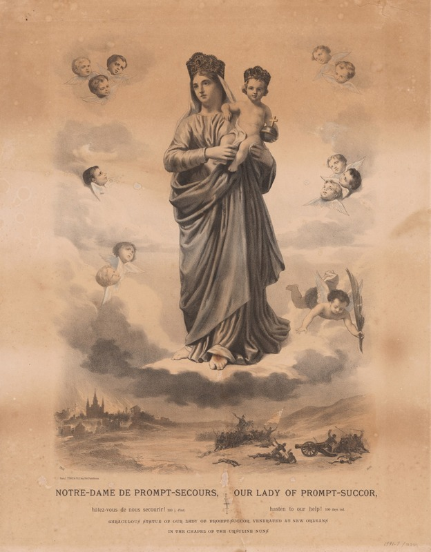 Our Lady of Prompt-Succor, Hasten to Our Help!, L. Fils Turgis, Lithograph