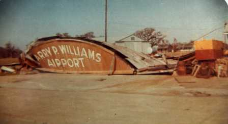 Hurricane Hilda Destroys the Last Hangar