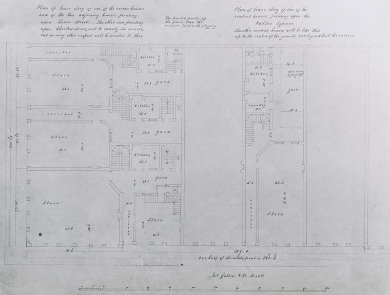 Typical Floor Plan of a Pontalba Building townhouse.