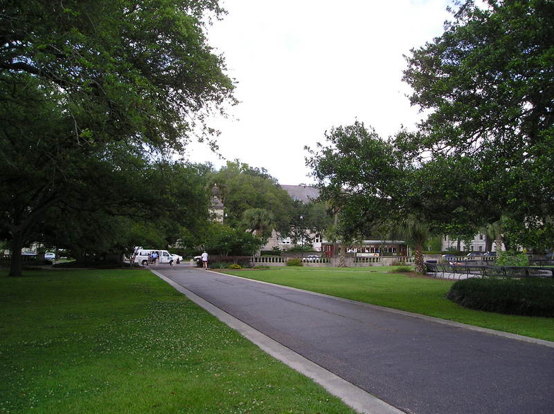 Looking back toward the avenue