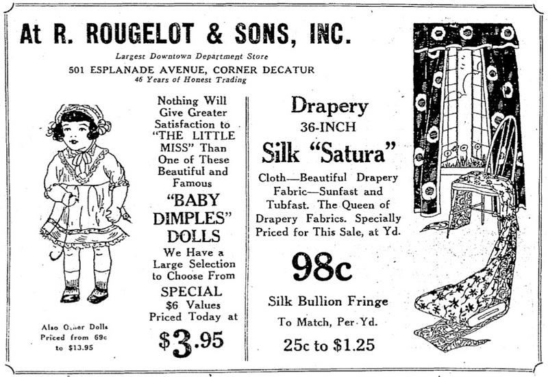 December 1927 Newspaper Ad