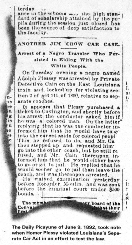 Plessy's Arrest
