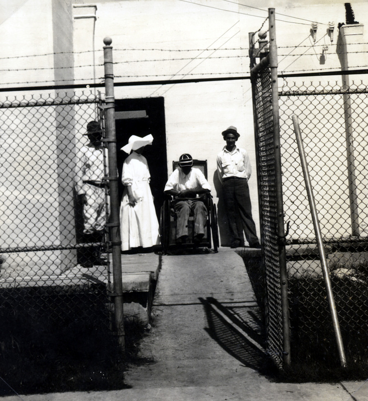 A patient and staff at the Carville jail.&lt;br /&gt;<br />