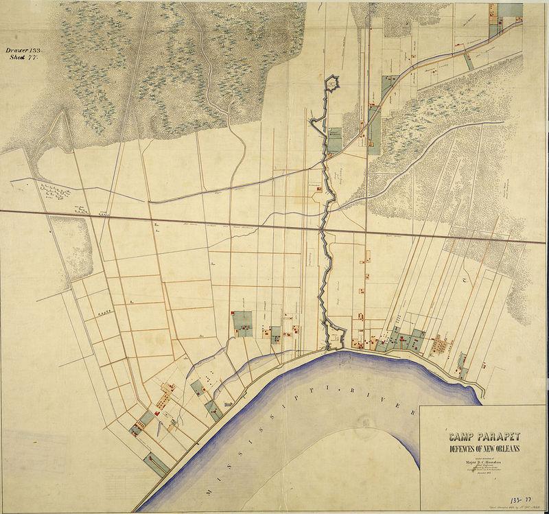 1863 Map of Parapet Line