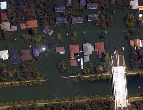 Aerial view of London Avenue Breach Site