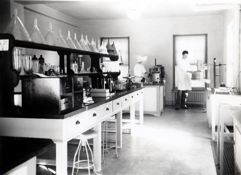 Laboratory located in the Infirmary, National Leprosarium, Carville.&lt;br /&gt;<br />