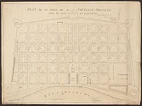 Plan de la Ville de la Nouvelle-Orl�©ans avec les noms des propri�©taires (pour copie conforme)