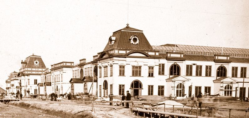 Government and States Building under construction, 1884