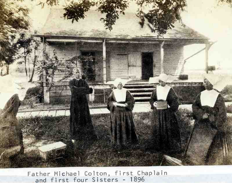 The Daughters of Charity of St. Vincent de Paul Arrive at the Louisiana Leper Home, 1896.&lt;br /&gt;<br />
