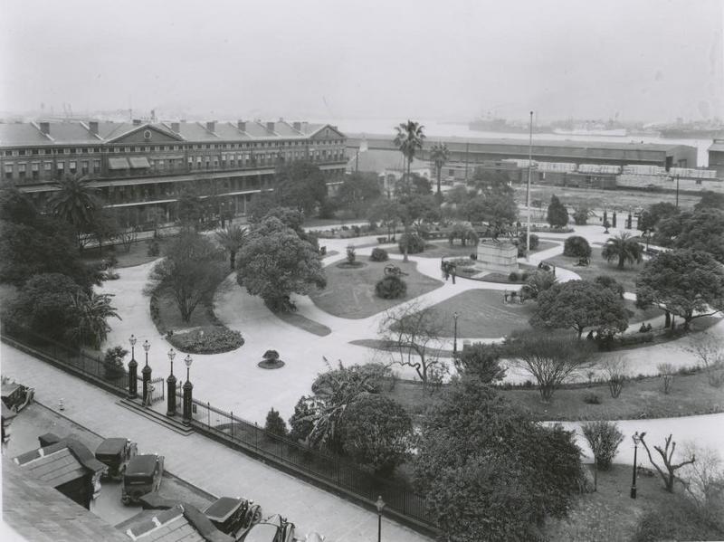 Jackson Square and the Lower Pontalba Building, 1936