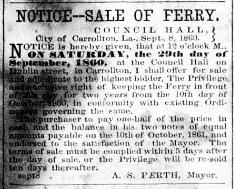 Ferry Franchise Sale Notice