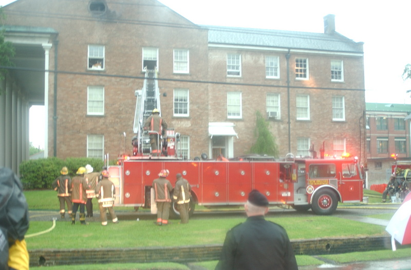 Fire at Fleming Hall, 2004