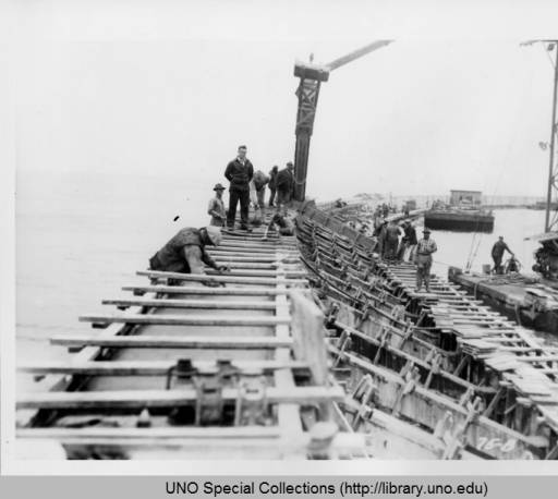 The Seawall:  Four Months of Construction, May 1931