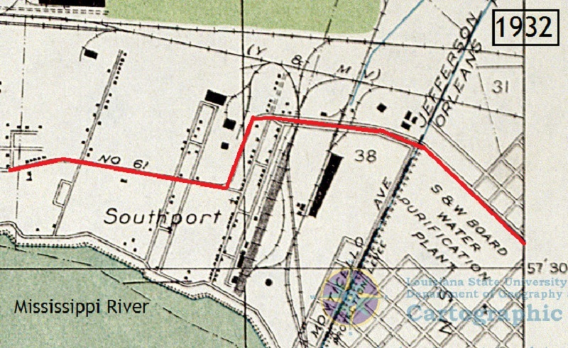 Southport area, 1932