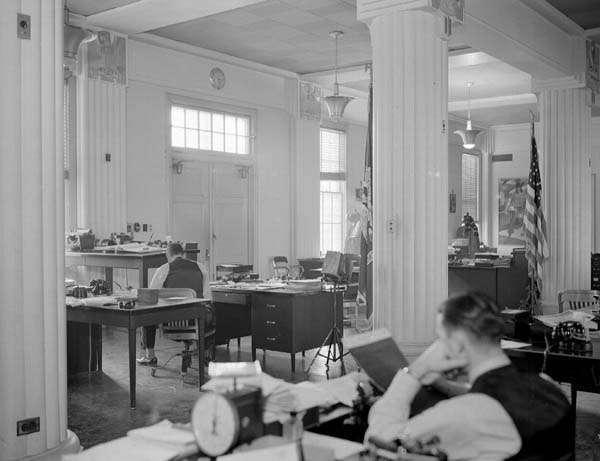 Fleming Hall interior, 1940