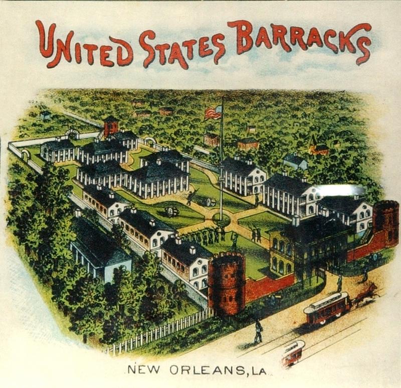 U.S. Barracks, 19th century postcard