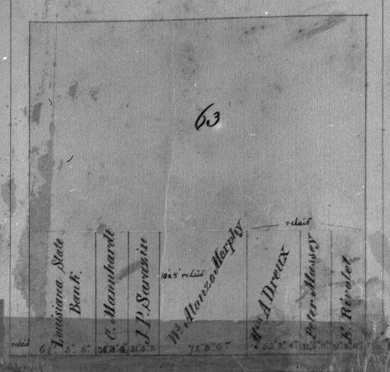 1859 map depicts Morphy House, 417 Royal Street