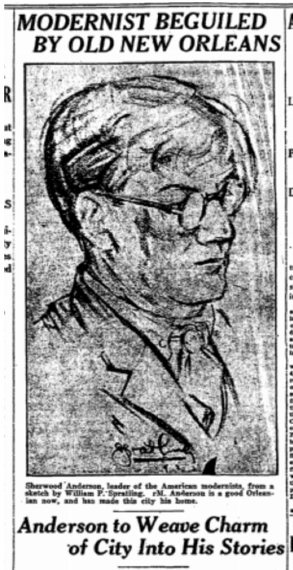 Newspaper Clipping Announcing Anderson's Arrival