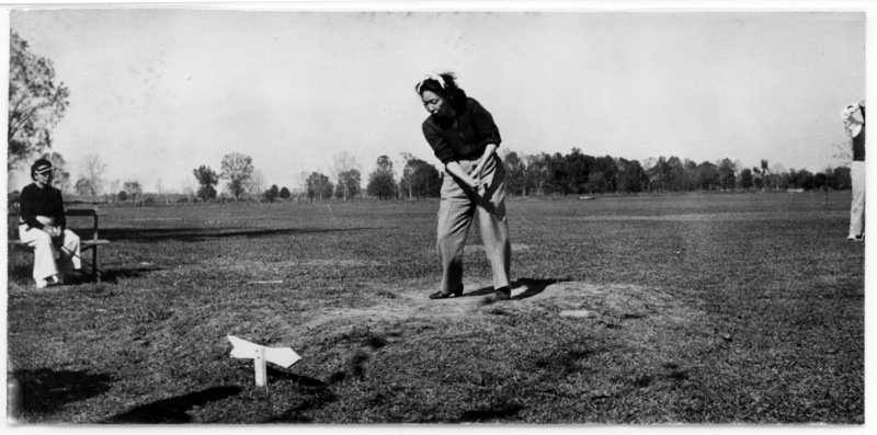 Patient Playing Golf, National Leprosarium, Carville, Louisiana.