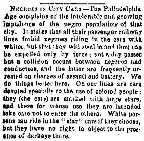 Negroes in City Cars