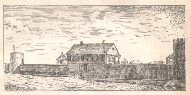 Earliest depiction of Jackson Barracks