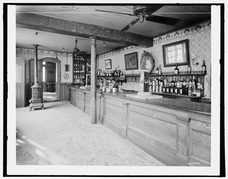 Absinthe House bar, 1900