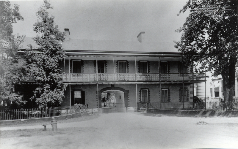 Jackson Barracks original Headquarters, front, circa 1910