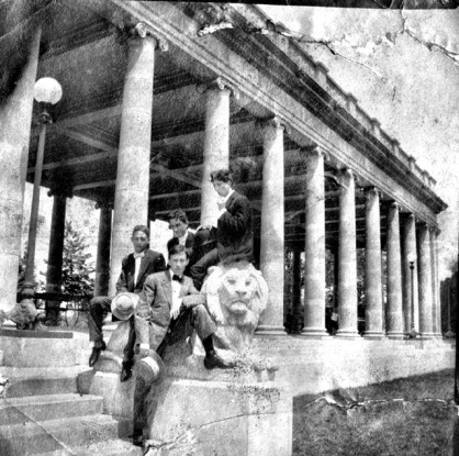 The Peristyle over 100 years ago.