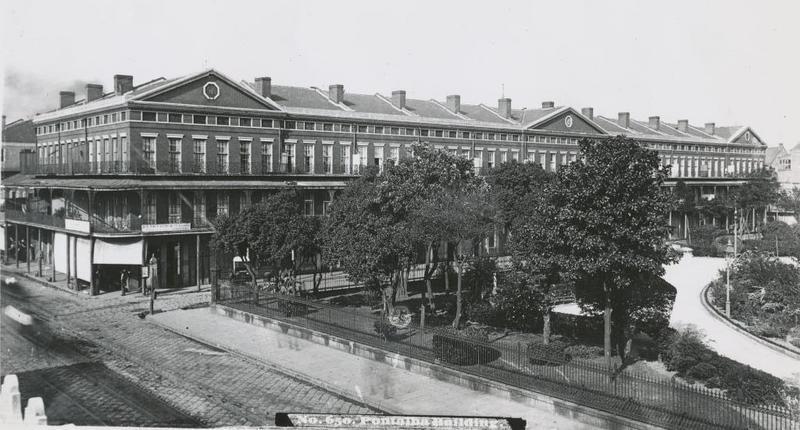 View of Lower Pontalba building, late 19th century