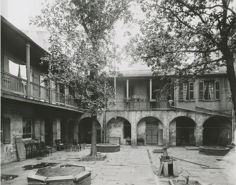 Courtyard of the Morphy Home, approximately 1910