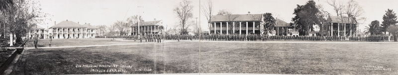 Reviewing the Troops. February 16, 1920